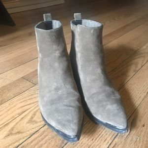 Marc Fisher suede pointy toed booties